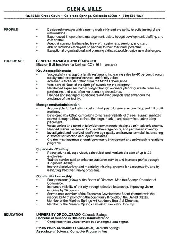restaurant manager resume example professional examples and make your powerfulbusinessprocess