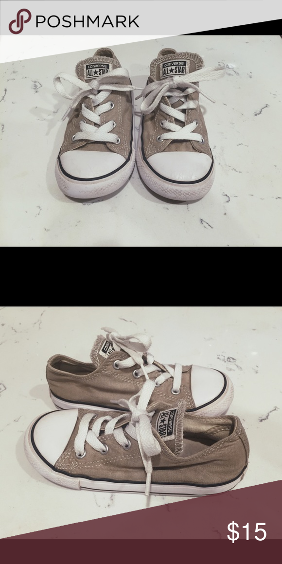 36911d81b3ee ... where to buy kids grey converse in euc greyish tan kids converse in euc size  10