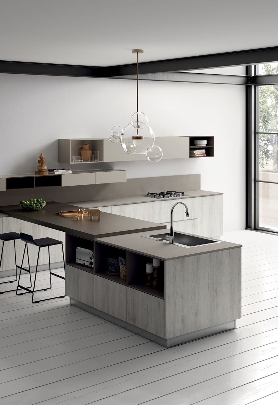 Cucine Open Space Moderne accurate design which creates a composition with the right