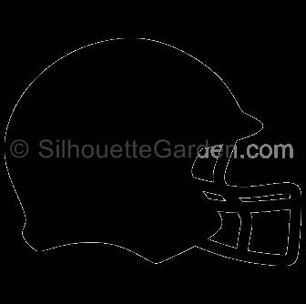 Football Helmet Silhouette Football Helmets Silhouette Clip Art Silhouette Images