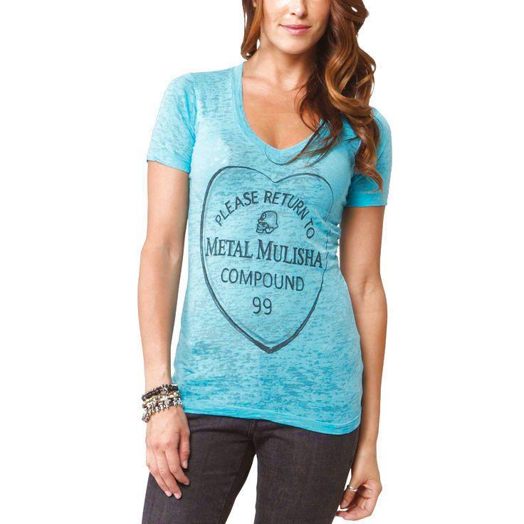 Metal Mulisha Lovelorn Juniors T-Shirt - Teal - $19.94
