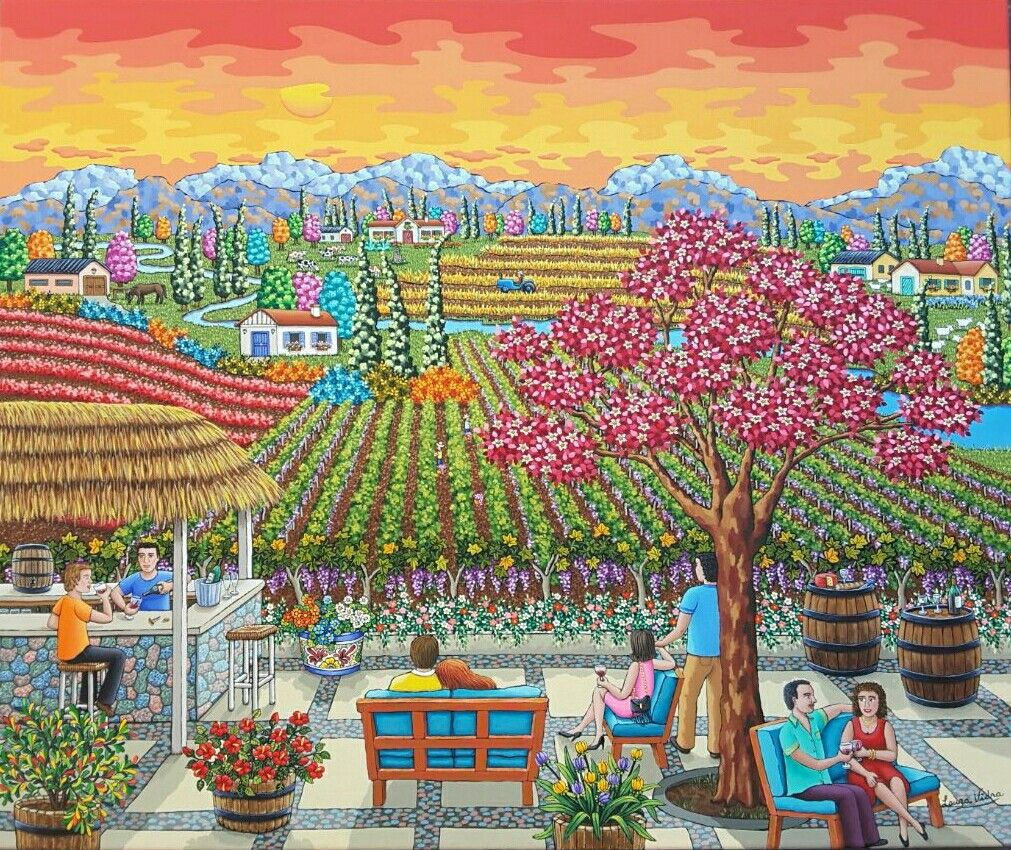 Arte Naif Nicaragua New Naive Painting By Laura Vidra Folk And Naive Art In 2019