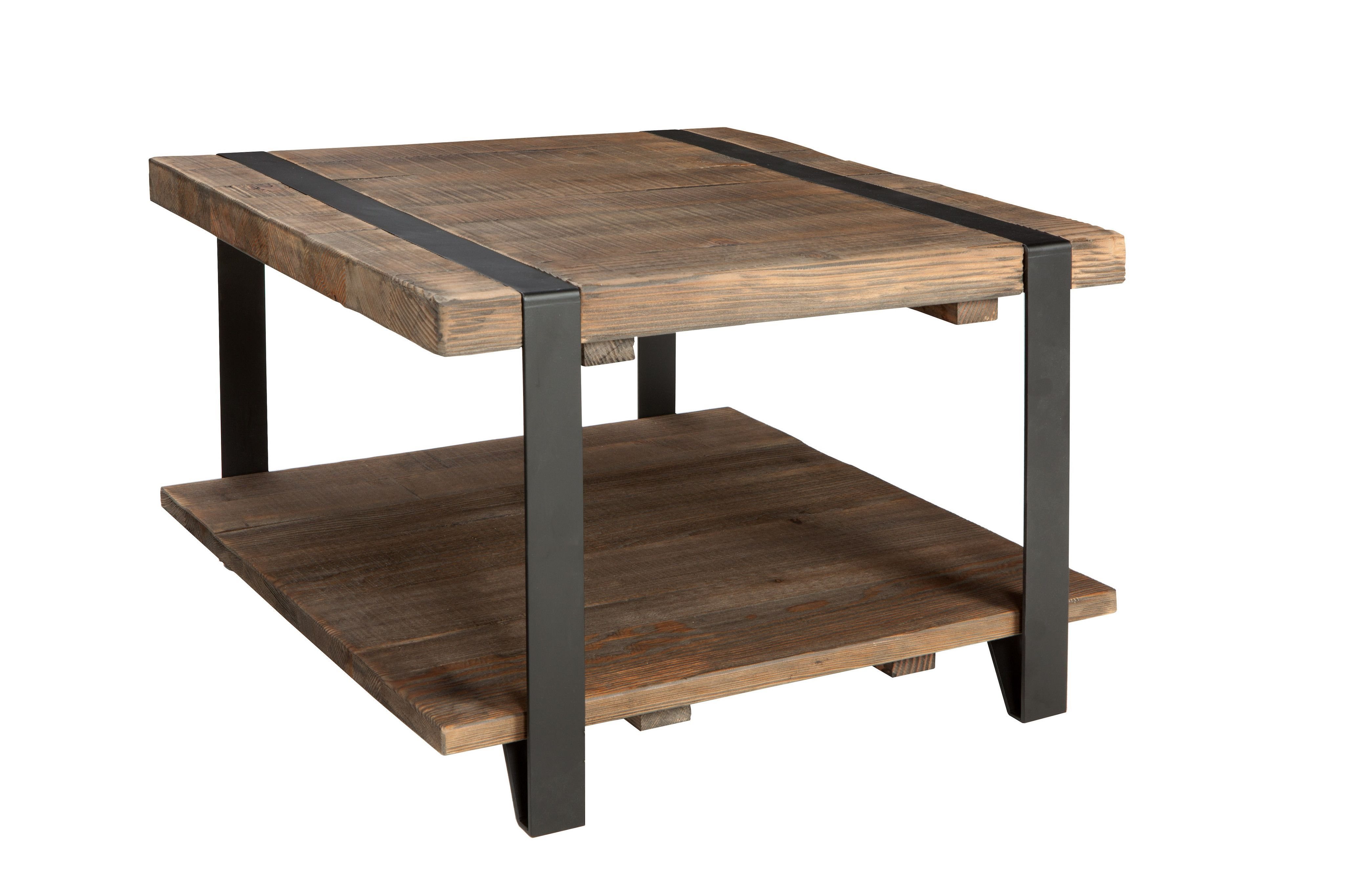 Coole Couchtische Foxford 27 Inch Reclaimed Wood Square Coffee Table Products