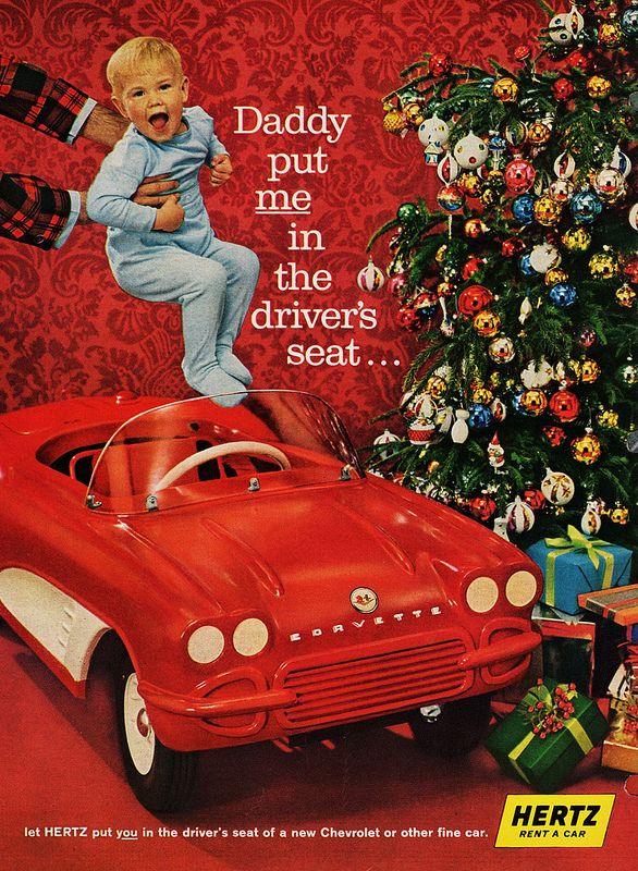 196162 Chevrolet Corvette Kiddie Car (Hertz Ad) Pedal