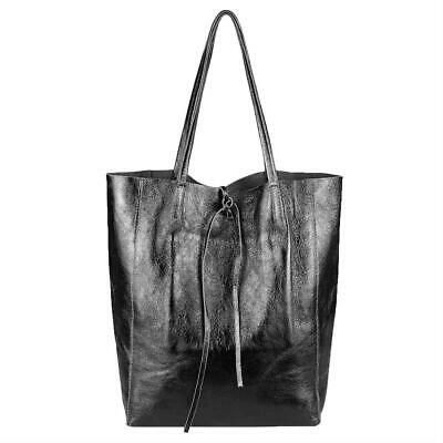 Photo of from ITALYSHOP24.COM ITAL LEDER HAND-TASCHE Metallic Damentasche Shopper Schulte…