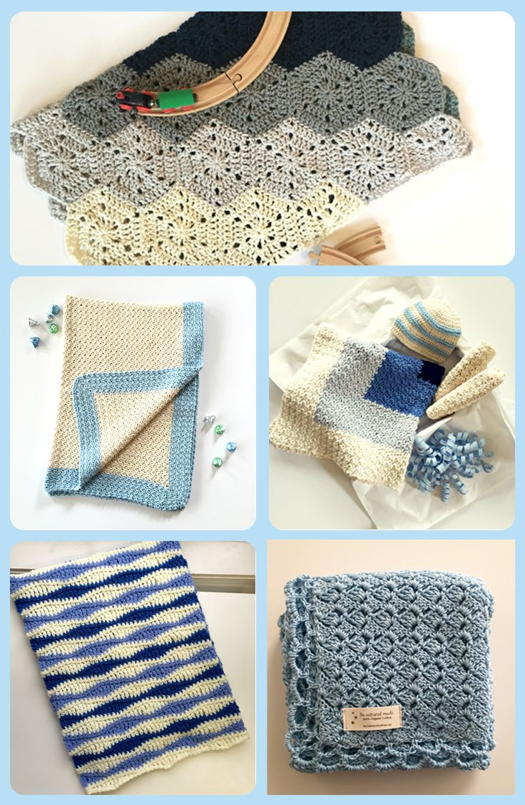 So sweet! Baby blanket crochet patterns for baby boys. Boy baby ...