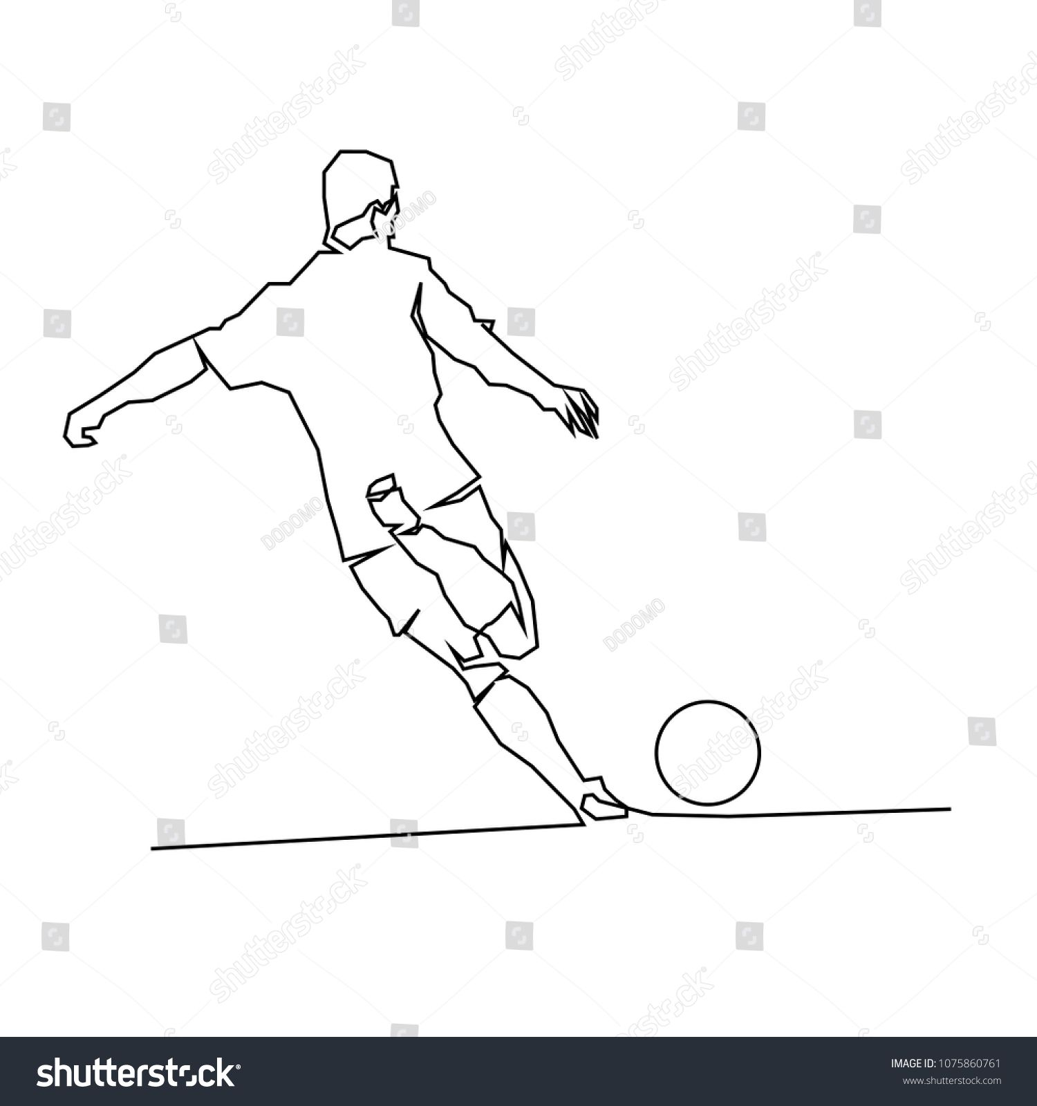 Continuous Line Drawing Of Football Players Sports Concept Vector Health Illustrations Ad Ad Football Playe Line Drawing Continuous Line Drawing Drawings