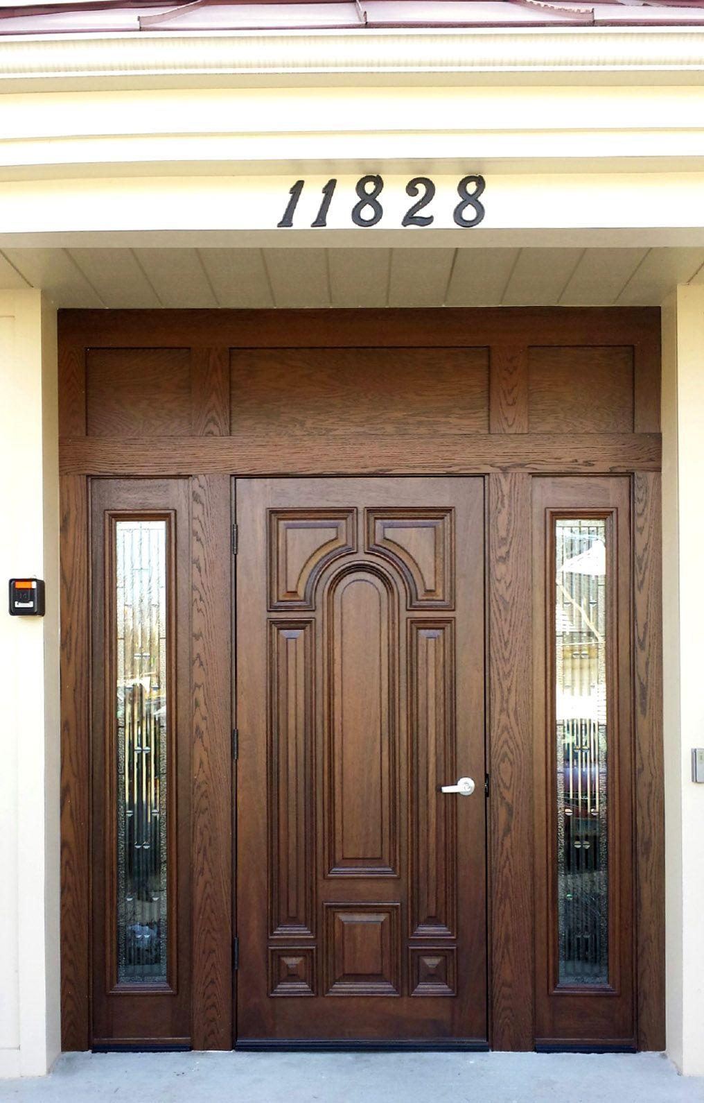 Commercial Use Mahogany Door Entrance Door Design Main Door