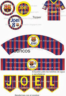 Kit imprimible F.C.Barcelona  92756ba87ee