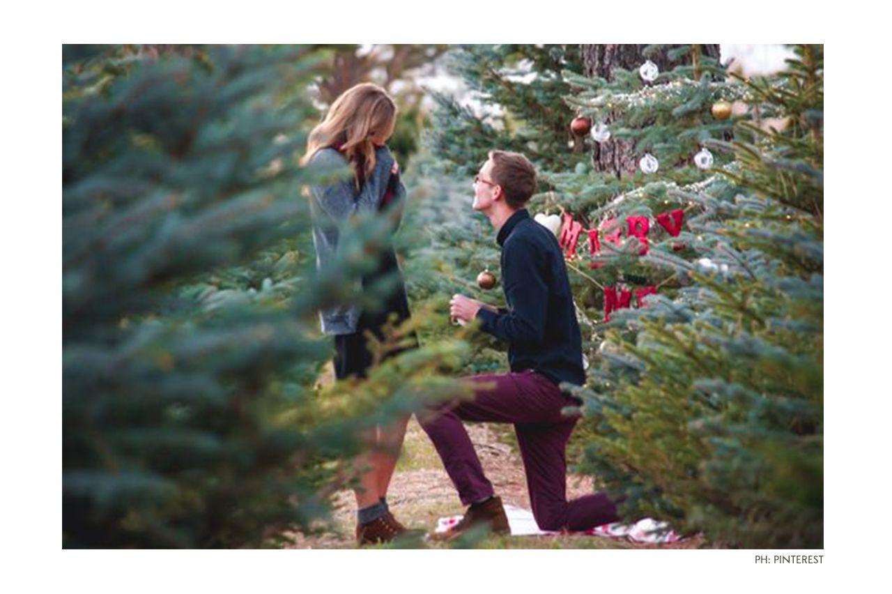 While On A Christmas Tree Farm 65 Most Romantic Ways To Propose Diamondsfactory Co Uk Christmas Proposal Tree Farm Proposal Romantic Ways To Propose
