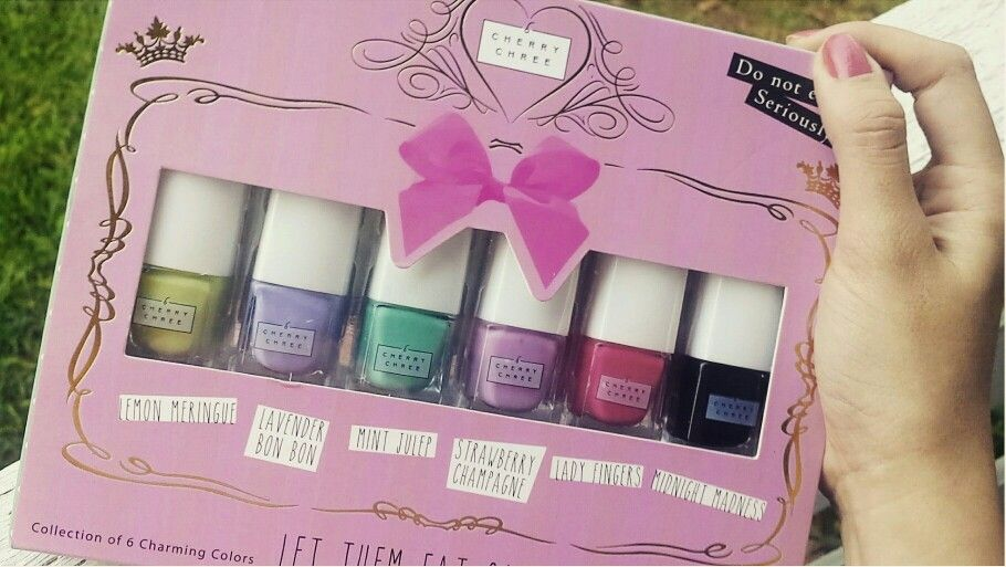 In Love With These Nail Polish Cherry Chree Collection