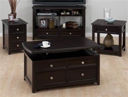 Jofran Corranado Espresso End Table W Drawer Jfn 319 3 Coffee