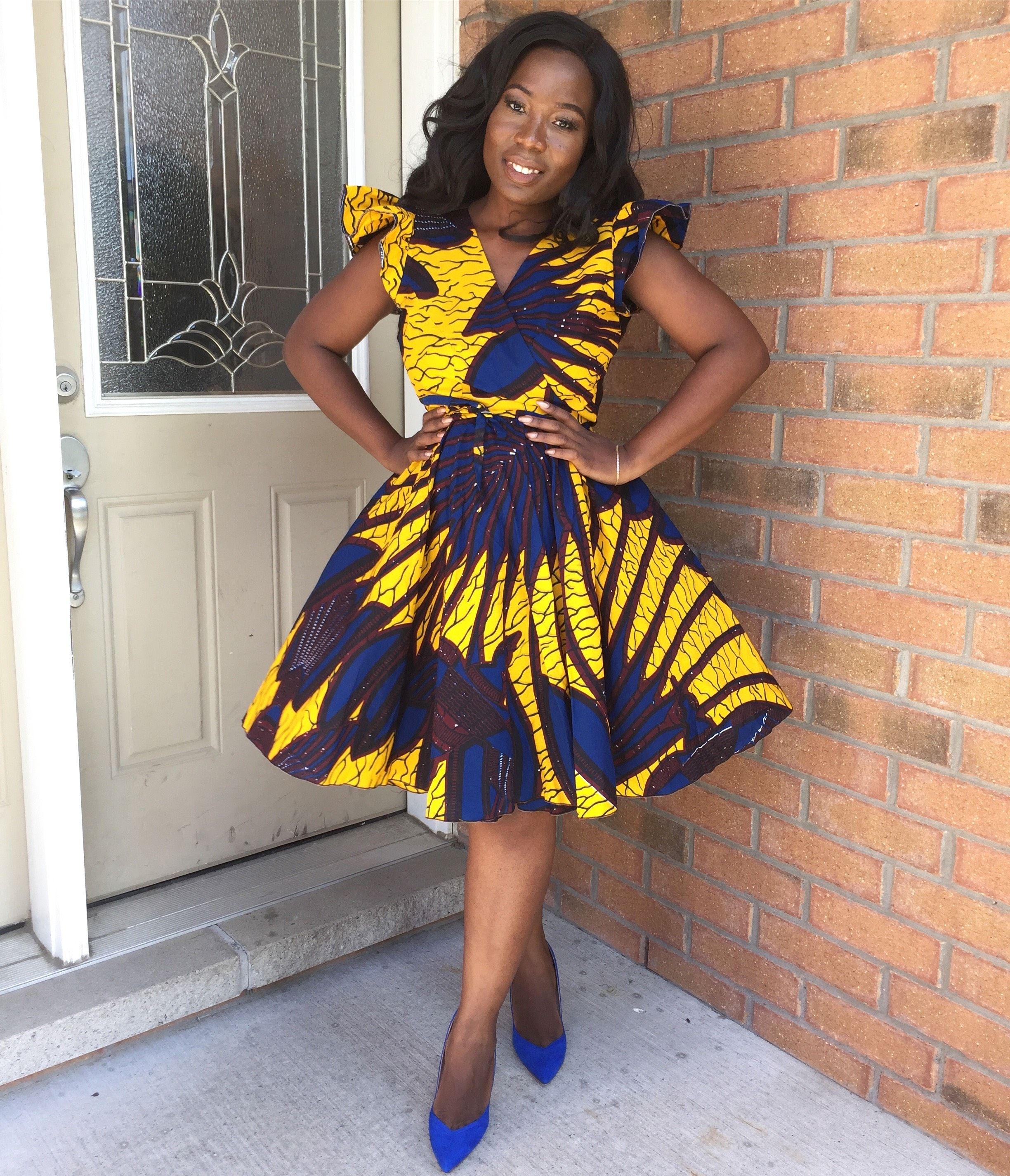 African Print Fancy Maternity Dresses