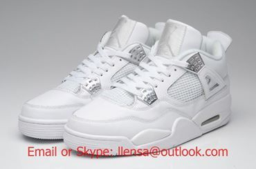 competitive price a7ba9 b4f76 Air Jordan 4 (IV) Pure Retro White / Metallic – Silver Model ...