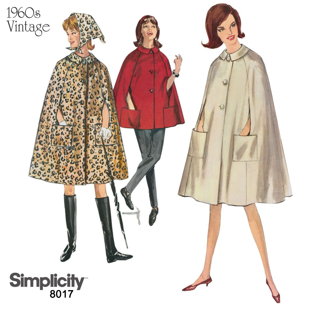 Capes are trending this fall sew this vintage 1960s cape with sew this vintage 1960s cape with patch pockets using simplicity jeuxipadfo Image collections