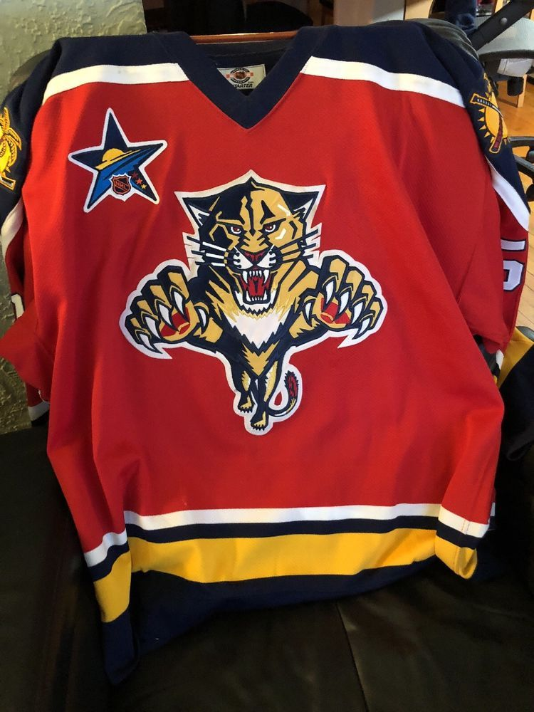 sports shoes 23c80 9a41c Vintage56 NHL PRO FLORIDA PANTHERS GAME JERSEY FIGHT STRAP W ...