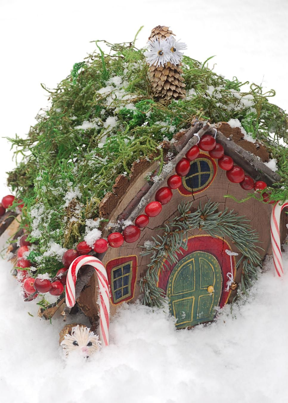 Miniature Christmas Fairy House | Garden houses, Yards and Yule