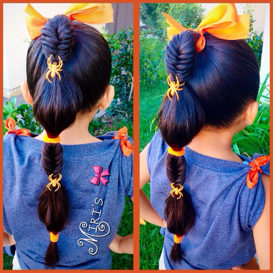 halloween hair style for little girls | my creation