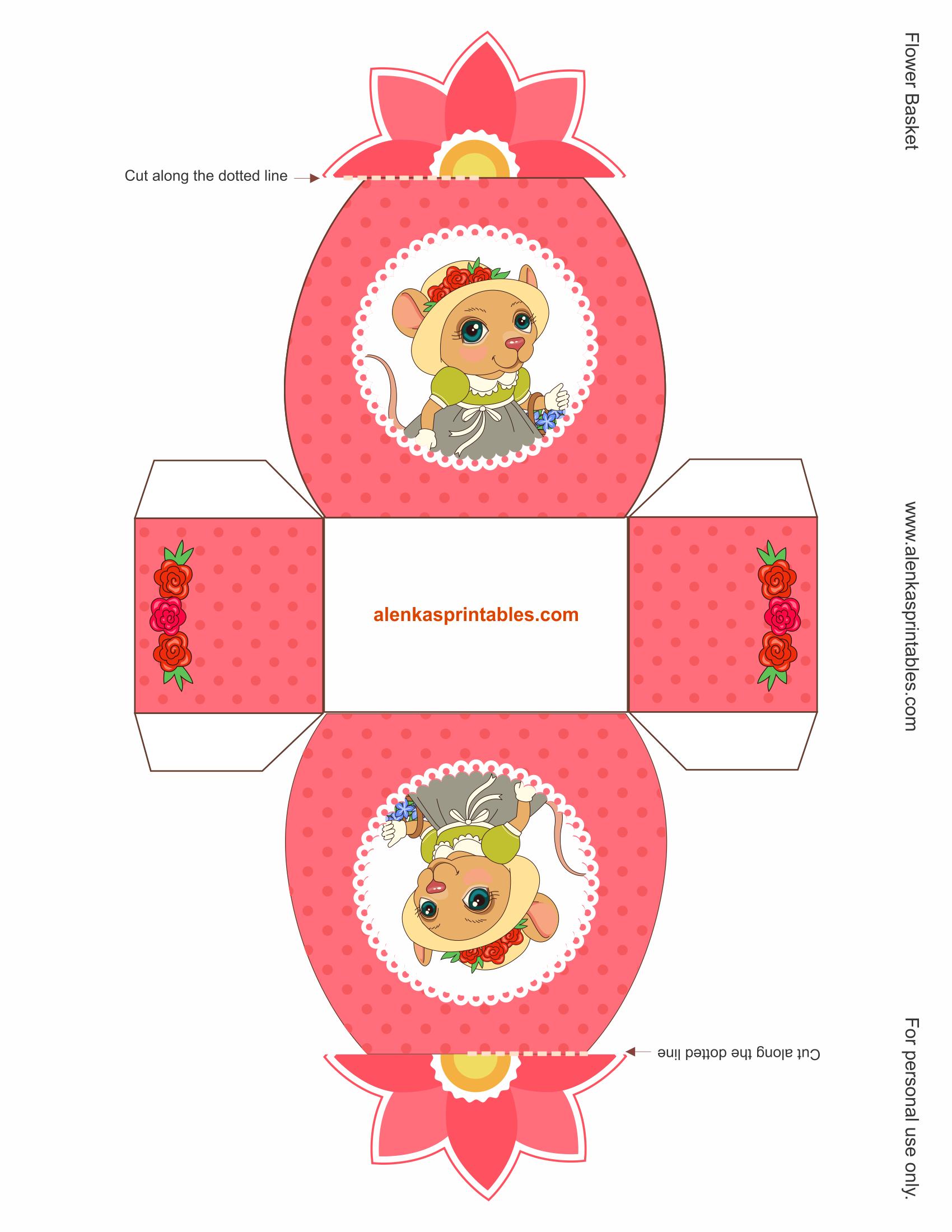 Printables Print Online Flower Basket Red Hat Ladies Prints
