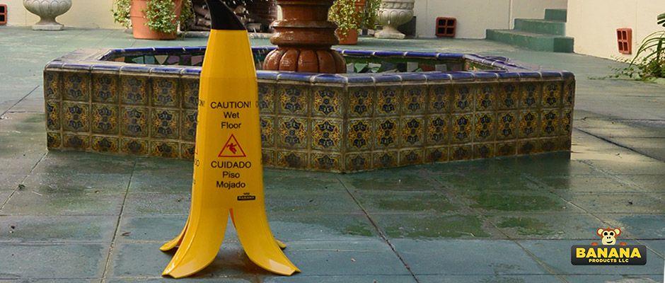 Wet Floor Sign//Banana Cone!