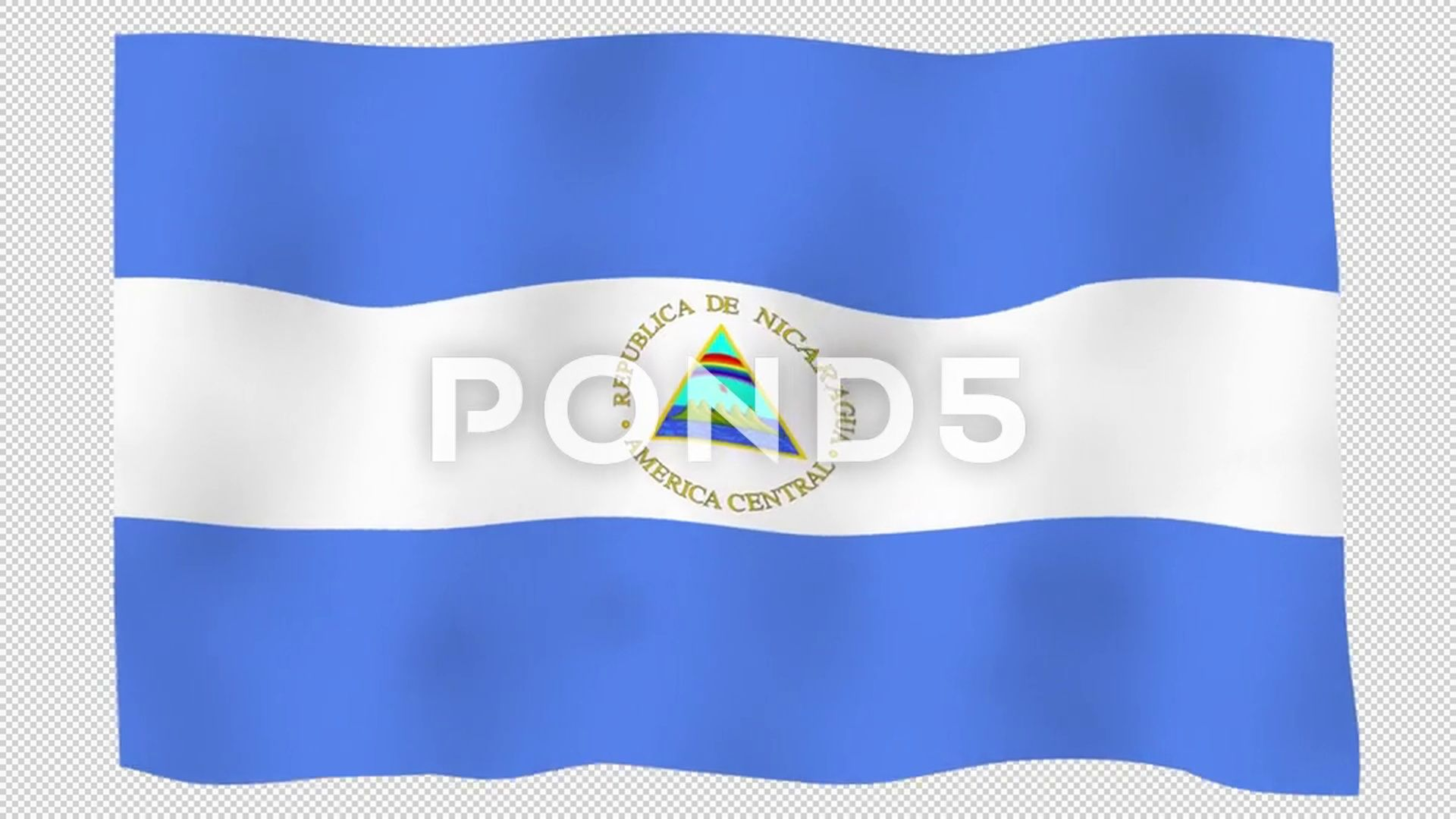 Flag Of Nicaragua 60 Fps Slow Motion Lopped Alpha Channel Stock Footage Ad Fps Slow Flag Nicaragua Alpha Channel Fps Motion