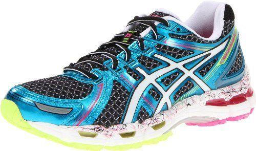 Asics Women S Gel Kayano 19 Running Shoe Black White Flash Pink 9 M Us Asics Http Www Dp B007zd8r7i Ref Cm Sw R P Asics Asics Women Running Women
