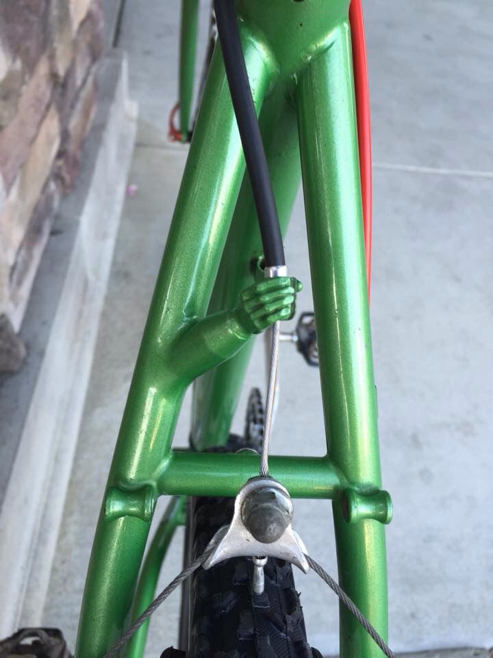 Early 90 S Ibis Bike Hand Job Rear Brake Cable Stop Idees