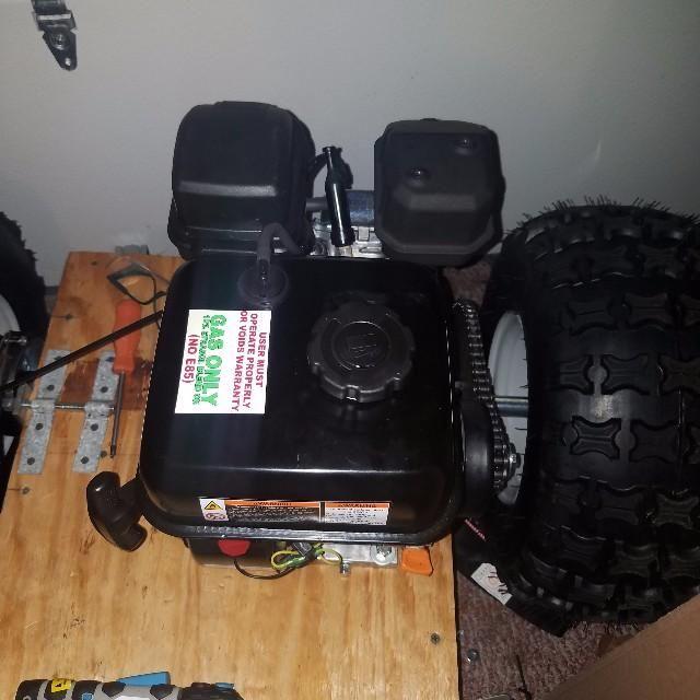 My predator 212 on my handbuily wooden go kart  | Model