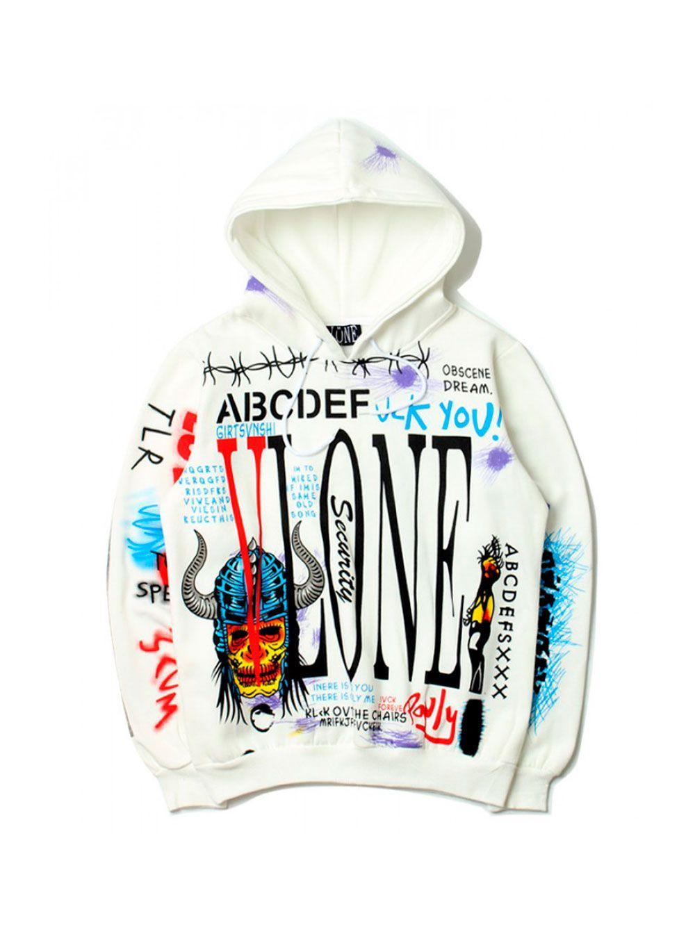 Худи Vlone ABCDEF Skateboard hoodies, Vlone
