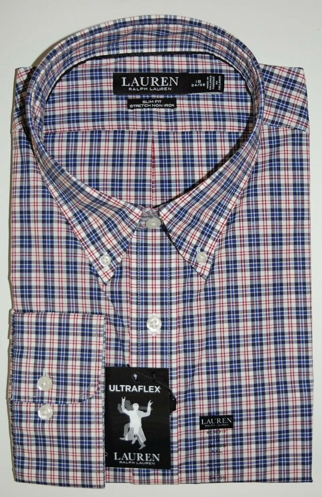 NWT $89 Polo Ralph Lauren Long Sleeve Shirt Mens  M XL Black White Plaid NEW