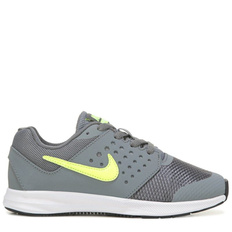 Nike Kids' Downshifter 7 Wide Running Shoe Preschool Shoes (Grey/Volt)