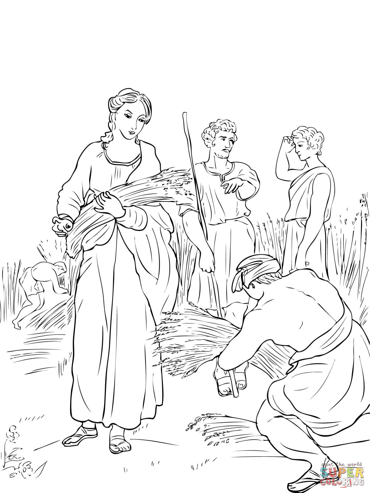 Ruth and Naomi coloring page