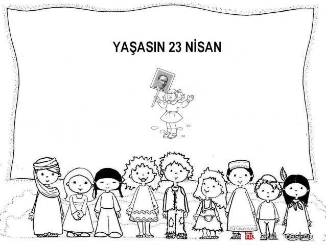 23 Nisan Boyama Sayfaları 23 Nisan Education