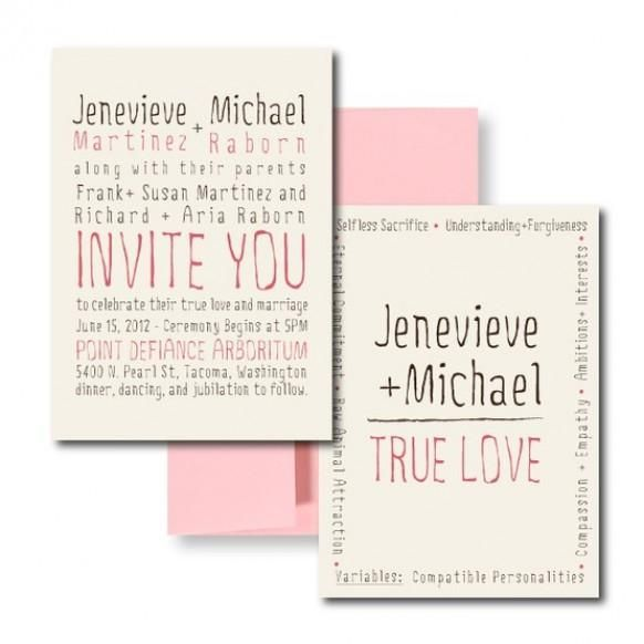 Cute Wedding Invite Wording: Wedding Invitation Wording, Blush