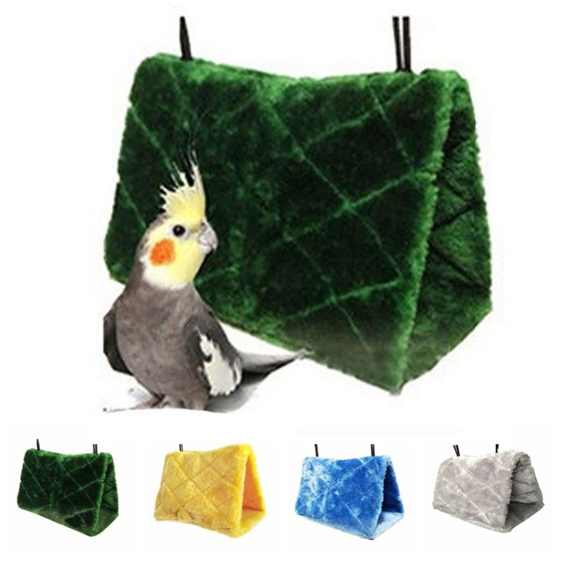 Home & Garden New Bird Parrot Warm Plush Hammock Cage Happy Hut Tent Bed Hanging Cave Swing Toys C42 Bird Cages & Nests
