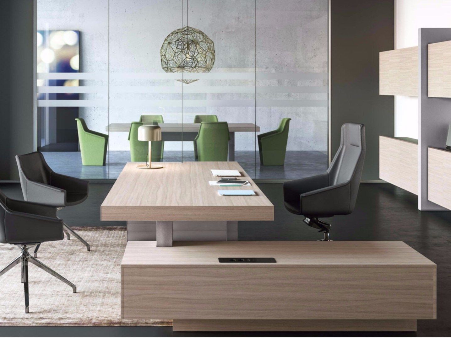 Jera Office Desk With Shelves By Las Mobili