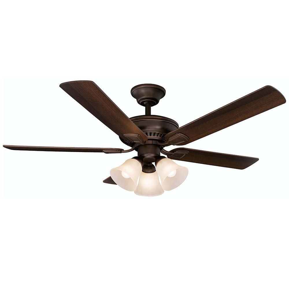 Mediterranean Bronze Ceiling Fan With Remote Control 41350 The Home Depot