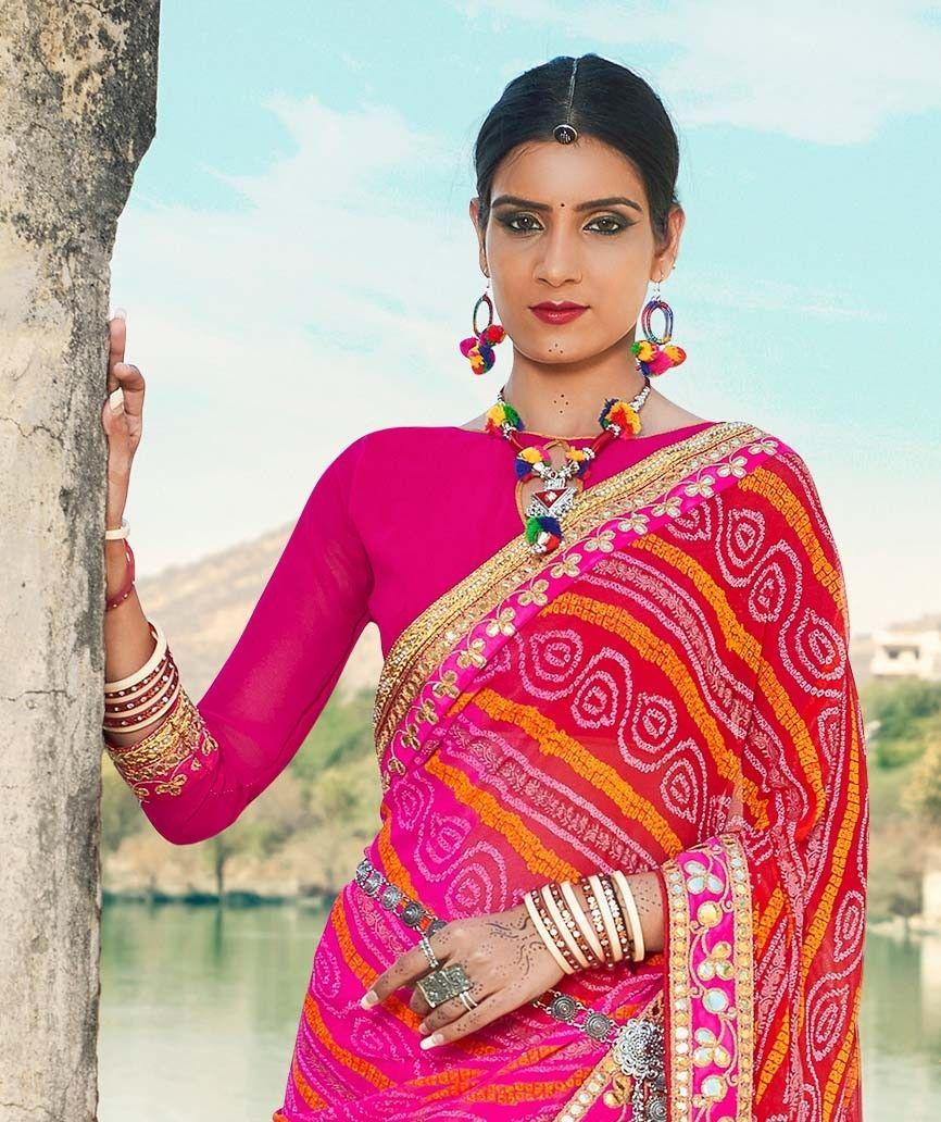 6f82d945a330a Blouse Design For Bandhej Saree - Best Image Nuduit.bluesalt.co ...