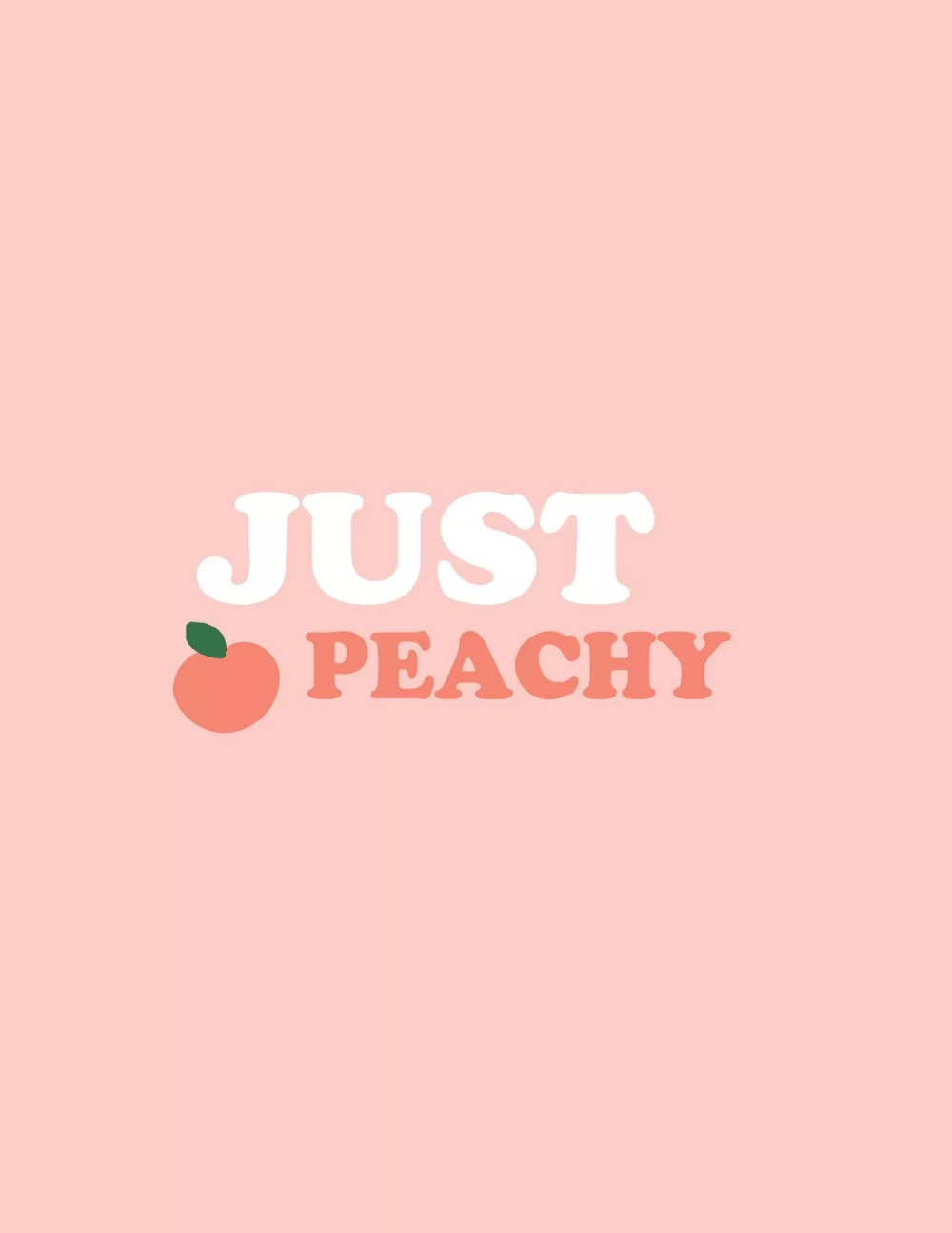 Just Peachy Printable A Bubbly Life Peach Wallpaper Aesthetic Pastel Wallpaper Just Peachy