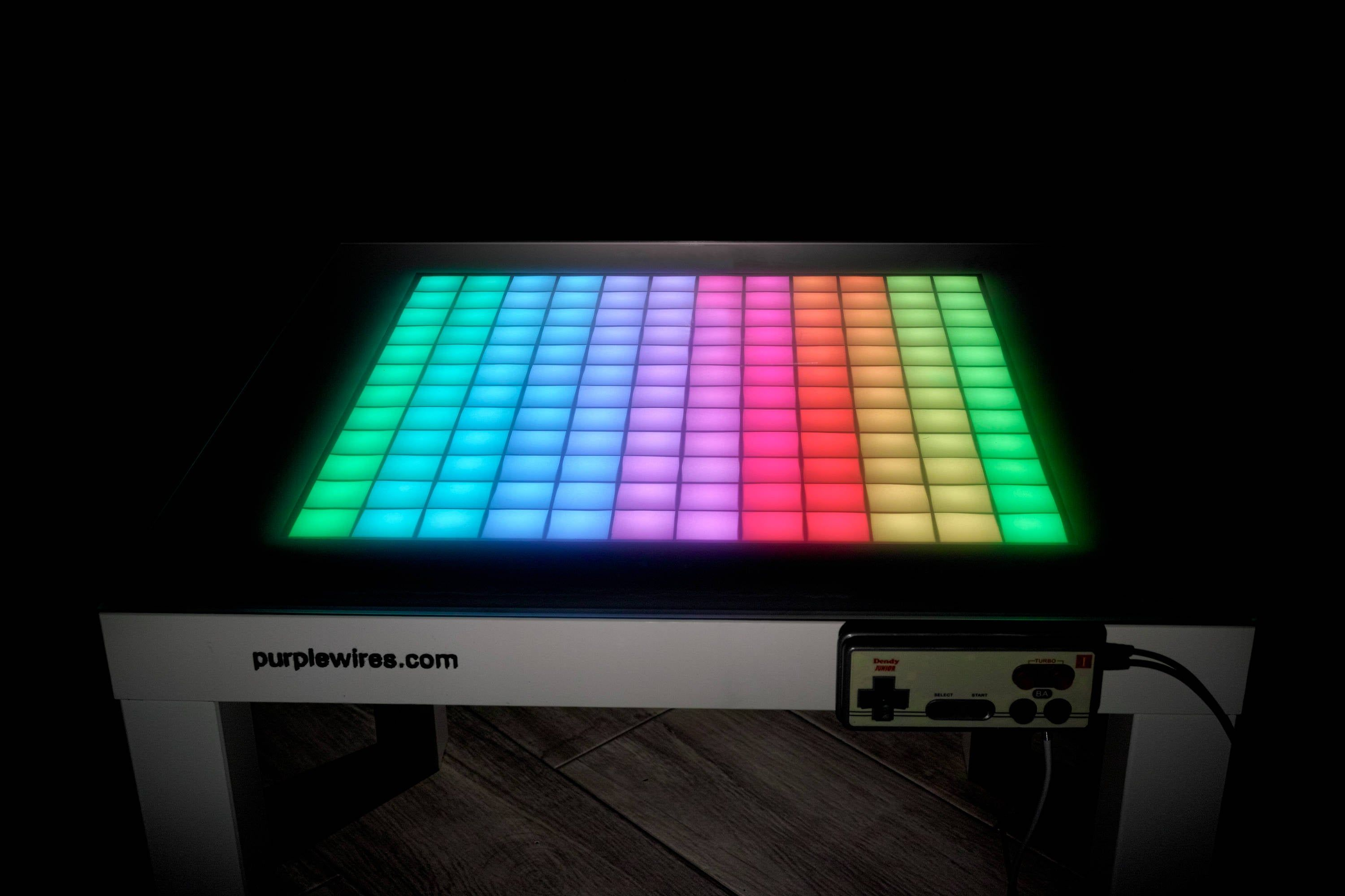 Led Game Console Retro Video Game Game Coffee Table Led Etsy In 2020 Retro Games Console Tetris Game Retro Video Games