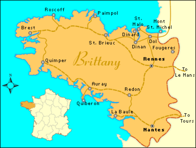 Brittany France Map Europe | TRAVEL | Brittany map, Brittany france map, Bretagne