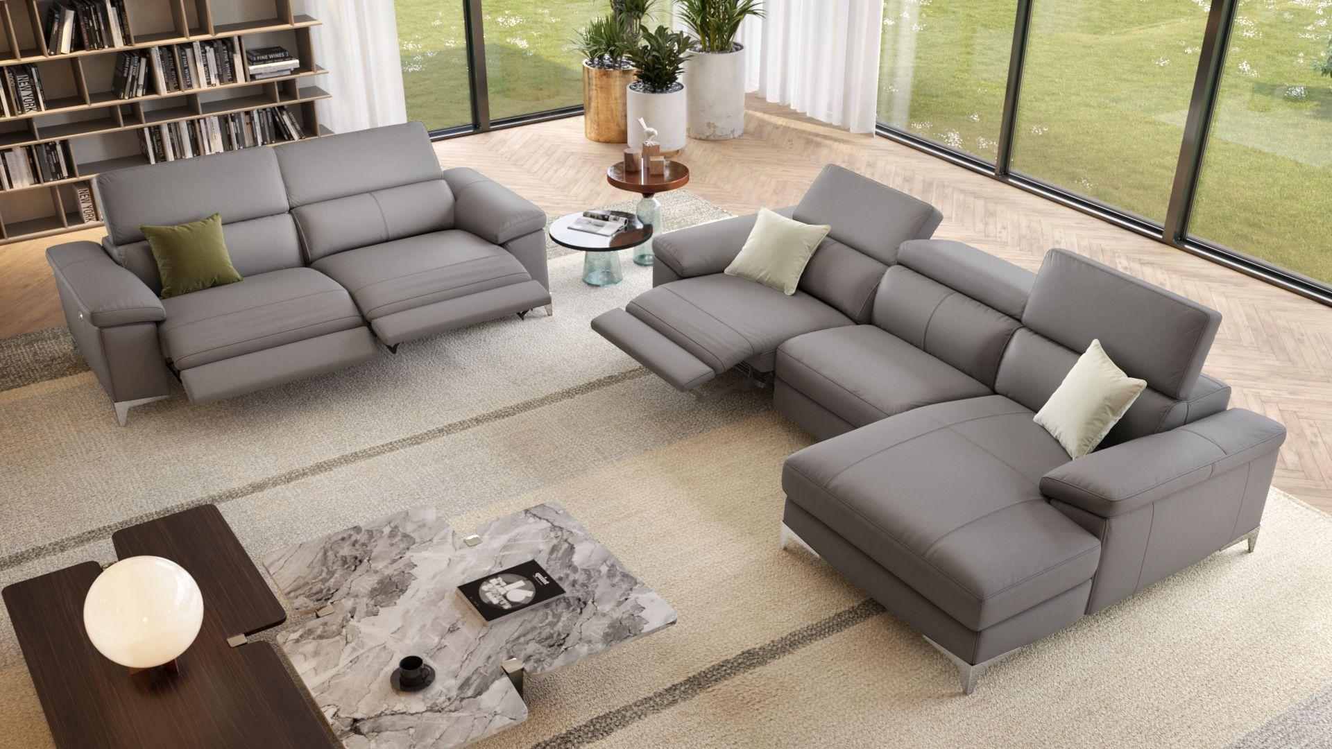 Venosa Leder Relaxsofa Sofa Relaxen Wohnen
