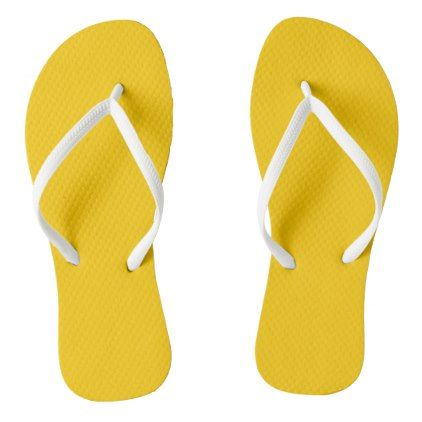 ec7700eb51de9d Plain Retro Tree Baubles Yellow flip flops - minimal gifts style template  diy unique personalize design