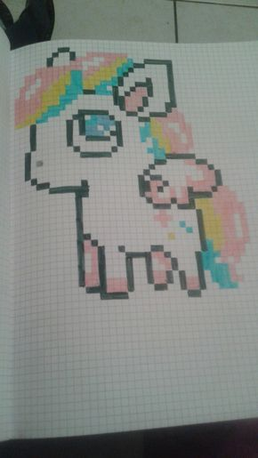 Cute Pegase Pixel Art Minecraft Dessin Petit Carreau Et