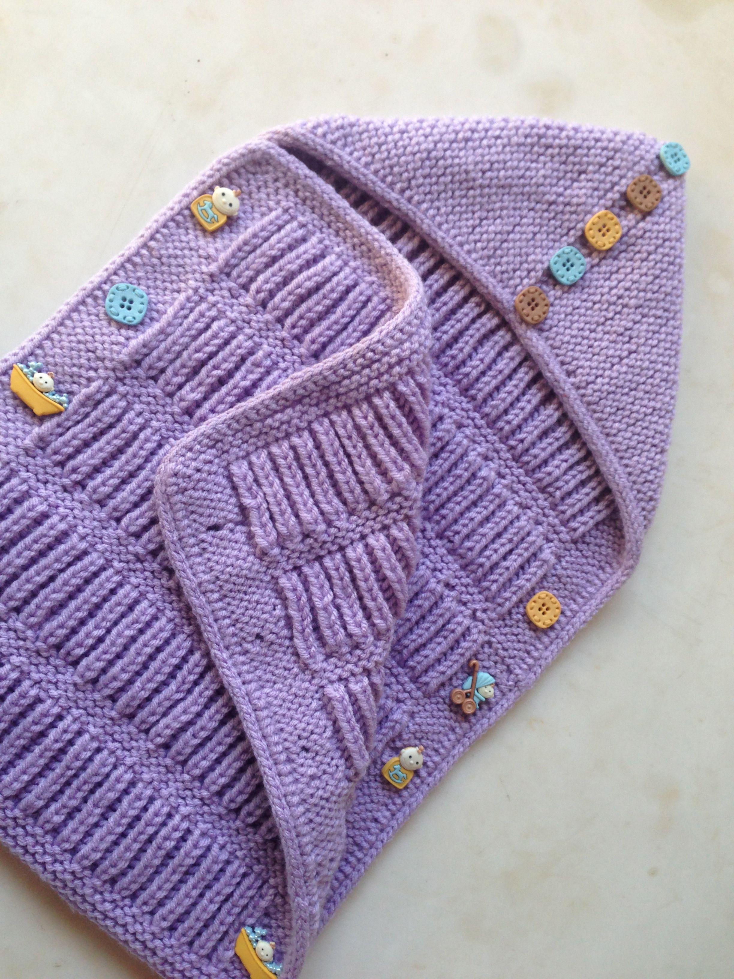 Fisherman\'s Baby Envelope | knitting | Pinterest