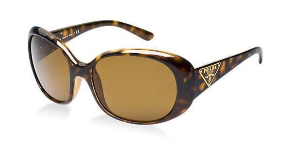 76147e6c157da Prada Sunglasses (Women s Pre-owned Gold Havana Polarized Milano Sun Glasses )