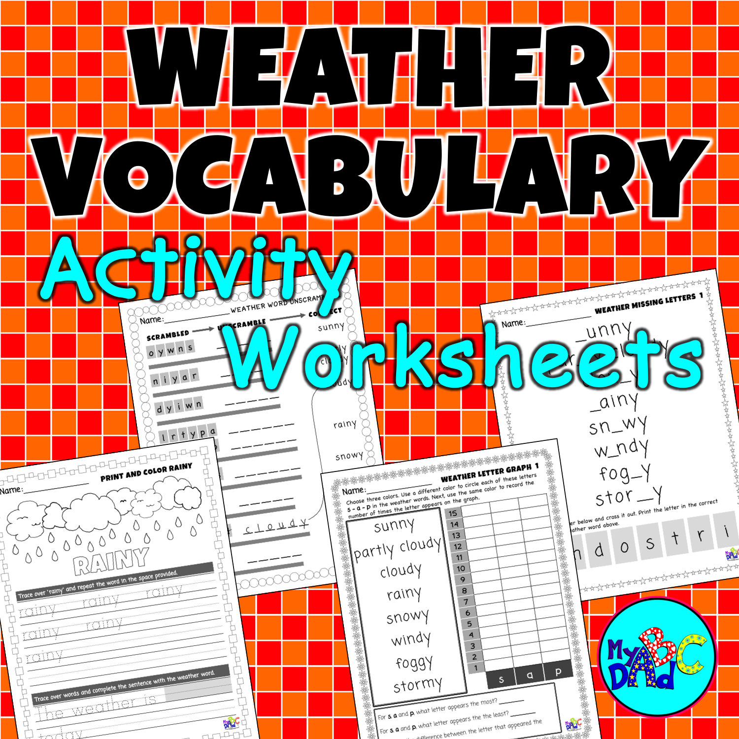 Weather Vocabulary Activity Worksheets In