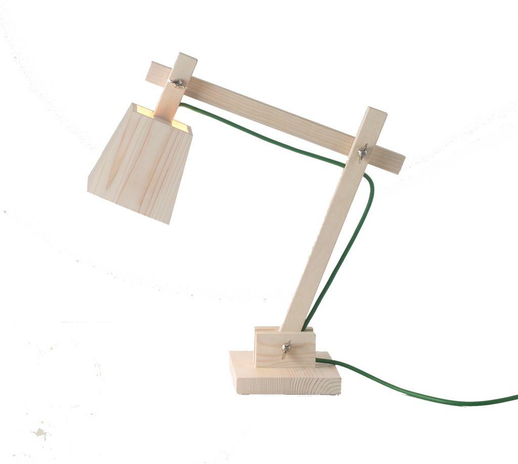 Muuto Bureaulamp Hout Groen | Klevering
