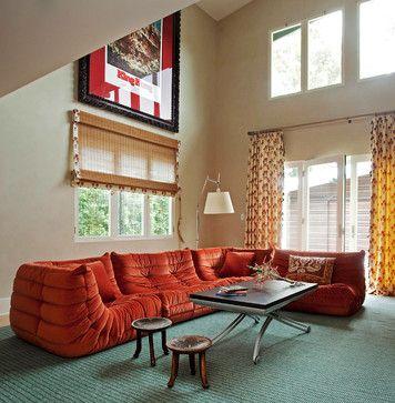 Orange Sofa Design Ideas, Pictures, Remodel and Decor