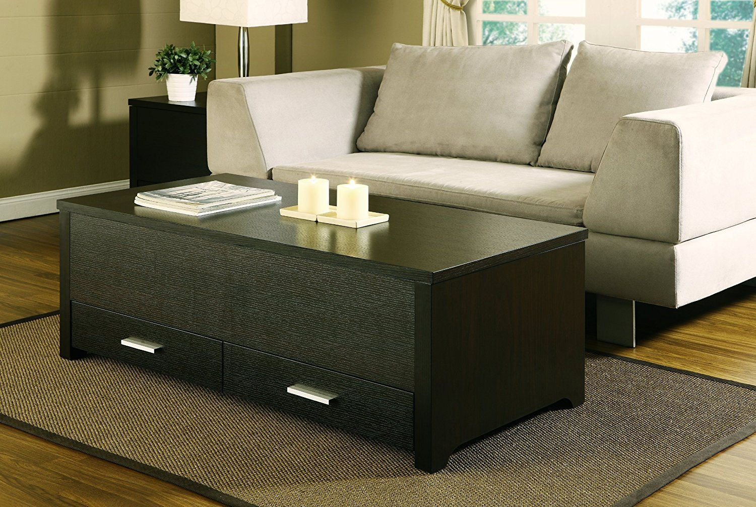 Furniture Of America Achley Trunk Style Coffee Table, Dark Espresso:  Amazon.ca: Home U0026 Kitchen